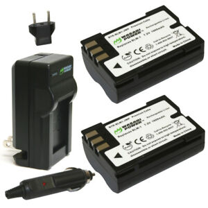 Wasabi Power Battery 2-Pack & Charger for Olympus BLM-1, BLM-01, PS-BLM1, BLM-5