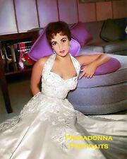 ELIZABETH TAYLOR 8x10 Glamour Color Lab Photo Violet Eyes shimmering gown