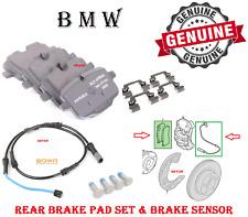 BMW Rear Brake Pad Set With Sensor 528 535 550 650 B6 F10 F06 F12 F13 Genuine