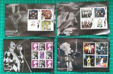 2020 QUEEN SET OF 4 PSB PRESTIGE STAMP BOOKLET PANES USED