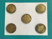 """Patriots! - Set of 5 - 2 1/2"""" Military Medallions ALL Services + US Great Seal"""