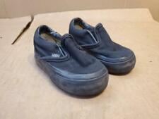 BLACK INFANT VANS SLIP ON ((