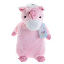 Pink Plush Unicorn Hot Water Bottle Cover Including Bottle