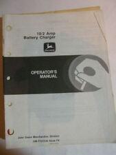 JOHN DEERE OPERATORS MANUAL 10/2 AMP BATTERY CHARGER F8