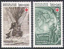 Francia 1982 Cruz Roja/médico/salud/bienestar/Verne/balón/Libros 2 V Set (n23252)