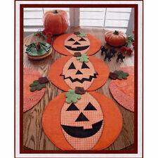 New Table Topper Runner Placemat Pattern   AUTUMN JACK-O-LANTERNS