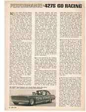 1966-1967 FORD SOHC 427 ENGINE - GO RACING  ~  NICE ORIGINAL ARTICLE