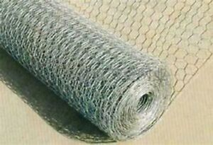 Chicken Wire Mesh Quality Galvanised ALL SIZES 5m / 10m