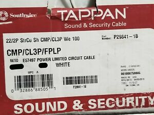 Southwire/Tappan 22/2P Individual Shield Pair Plenum Sound/Security Cable /50ft