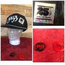 Vintage 1982 Monterey Jazz Festival 25th Anniversary Logo Hat Cap + 3 Logo Pins