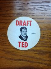 Draft Ted Kennedy Political Campaign Decal Sticker