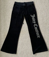 New listing VINTAGE JUICY COUTURE VELOUR BLACK TROUSERS WITH POCKETS SUPER RARE SIZE SMALL