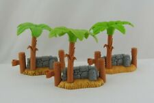 3 Fisher Price Little People PALM TREE WALL NATIVITY Bethlehem Inn Christmas Lot