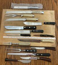 16 Kitchen Chef's Knives & Serving Forks Case Granny's RADA CUTCO Westall Denby