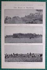 1900 BOER WAR BOERS AT MAFEKING SHELTERS VELDT ~ GUN PRACTICE