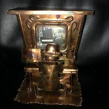 Vintage Copper Tin Metal Piano Player Bar Music Box Plays The Entertainer