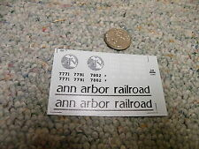 Herald King decals HO  Ann Arbor Railroad  for GP-38   XX209