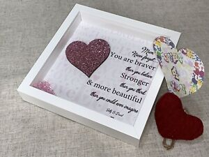 Personalised Quote Gift Frame - Never forget.... Brave, Strong, Beautiful