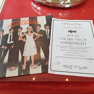 🔥 First Press Blondie Debbie Harry Signed Parallel Lines Cover Chris Stein COA