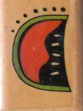 "watermelon that's all she stamped Wood Mounted Rubber Stamp 1 1/2 x 1"" free ship"