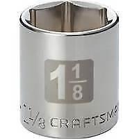 "Craftsman 1-1/8 STD""  Easy-To-Read Socket, 6 pt. STD, 1/2 in. drive New"
