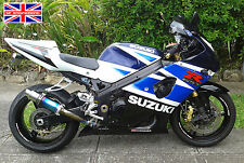 Suzuki Gsxr600 k1-k5 Color Titanio Stubby Moto Gp Perno de carrera escape