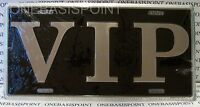VIP LICENSE PLATE ALUMINUM EMBOSSED SIGN CAR TAG AUTO VANITY VERY IMPORTANT NEW