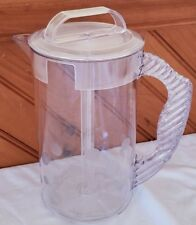 Pampered Chef Quick Stir 2 Qt Pitcher Retired Clear Acrylic Polka Dot