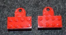 (2) 2x4 Red Minifigure Refrigerator Magnetic Display Bricks ~ Lego ~ NEW