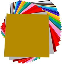 Transfer Vinyl Htv Color Sheets On Shirt Permanent 40 Pack Self Adhesive Design
