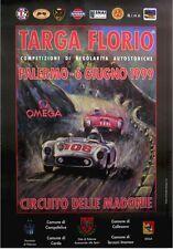 Original Targa Florio 1999 Poster Mercedes 300SLR Ferrari Sizilien Ferreyra