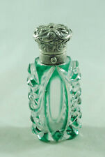Victorian Silver & Flashed Glass Scent Bottle 9cm EZX008