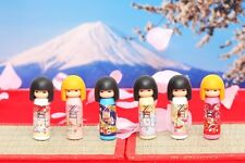 NEW VERSION 6 Japanese IWAKO Take-Apart Kokeshi Doll Rubber Erasers