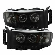 03-05 DODGE RAM 2500/3500 SPYDER  BLACK/SMOKE PROJECTOR HEADLIGHTS WITH LED HALO