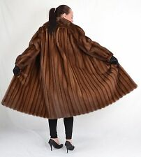 US973 dressy Mink Fur Coat jacket Full length pelliccia di visone Nerzmantel ~ L