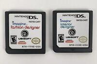Nintendo DS Game Bundle: imagine Fashion Designer & Interior Designer- Tested