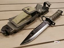 M9 Bayonet Tactical Holster Survival Combat Knife Rescue Sheath Olive Green NEW