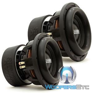"""(2) SUNDOWN AUDIO X-10 V.2 D4 REVISION 2 PRO 10"""" DUAL 4-OHM 1500W RMS SUBWOOFERS"""