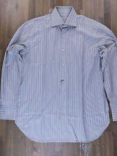 BRIONI striped cotton dress shirt authentic - Size 40 / 15.75 - NWOT