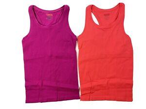 Spanx Large XL L Pink Orange Active Compression Shapewear Built In Bra Athletic