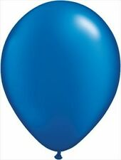 BLUE METALLIC LATEX BALLOONS *** PACK OF 50 ***