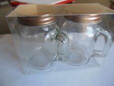 Mason Jar Salt And Pepper Shaker Set * Camping * Rv *  Picnic * Free  Shipping