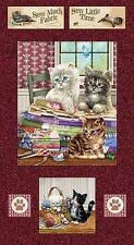 "BTY ""Krafty Kittens"" Block Panel SPX Fabrics 100% Cotton Quilt Shop Fabric"