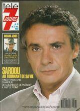 Télé 7 Jours N° 1533/1989 - Sardou Indiana Jones R. Welch Nagui R. Bohringer