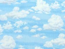 Patchwork Deko Stoffe Makower Seaside Meer Sommer himmelblaue Wolken am Himmel