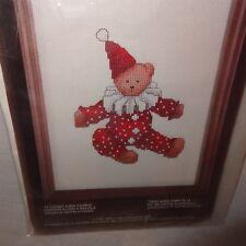 Bearbo Clown Bear Cross Stitch Kit Charmin New Old Stock 4017
