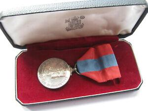 Queen Elizabeth II cased Imperial Service Medal to George William Burness