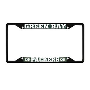 Fanmats NFL Green Bay Packers Black Metal License Plate Frame Del. 2-4 Days