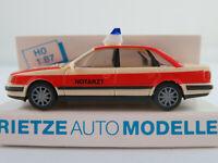 "Rietze 50421 Audi 100 Limousine (1990-1994) ""NOTARZT"" 1:87/H0 NEU/OVP"