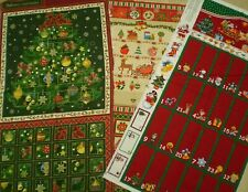 Panels - Christmas Advent Calendars.  100% Cotton